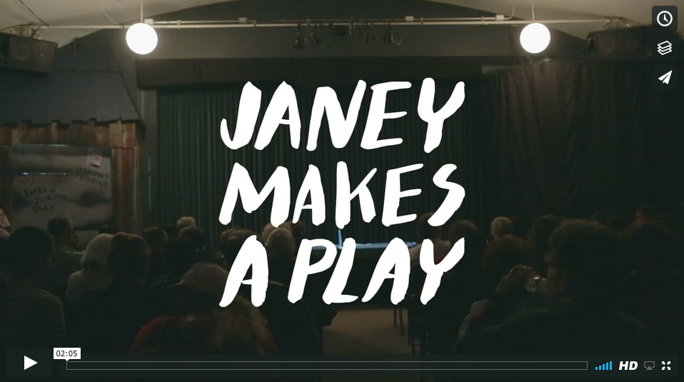 Janey Makes a Play - Release Date:  July 2016Follow 90-year-old Janey as she writes and directs her latest original, socially relevant community theatre production for the small town in which she lives.