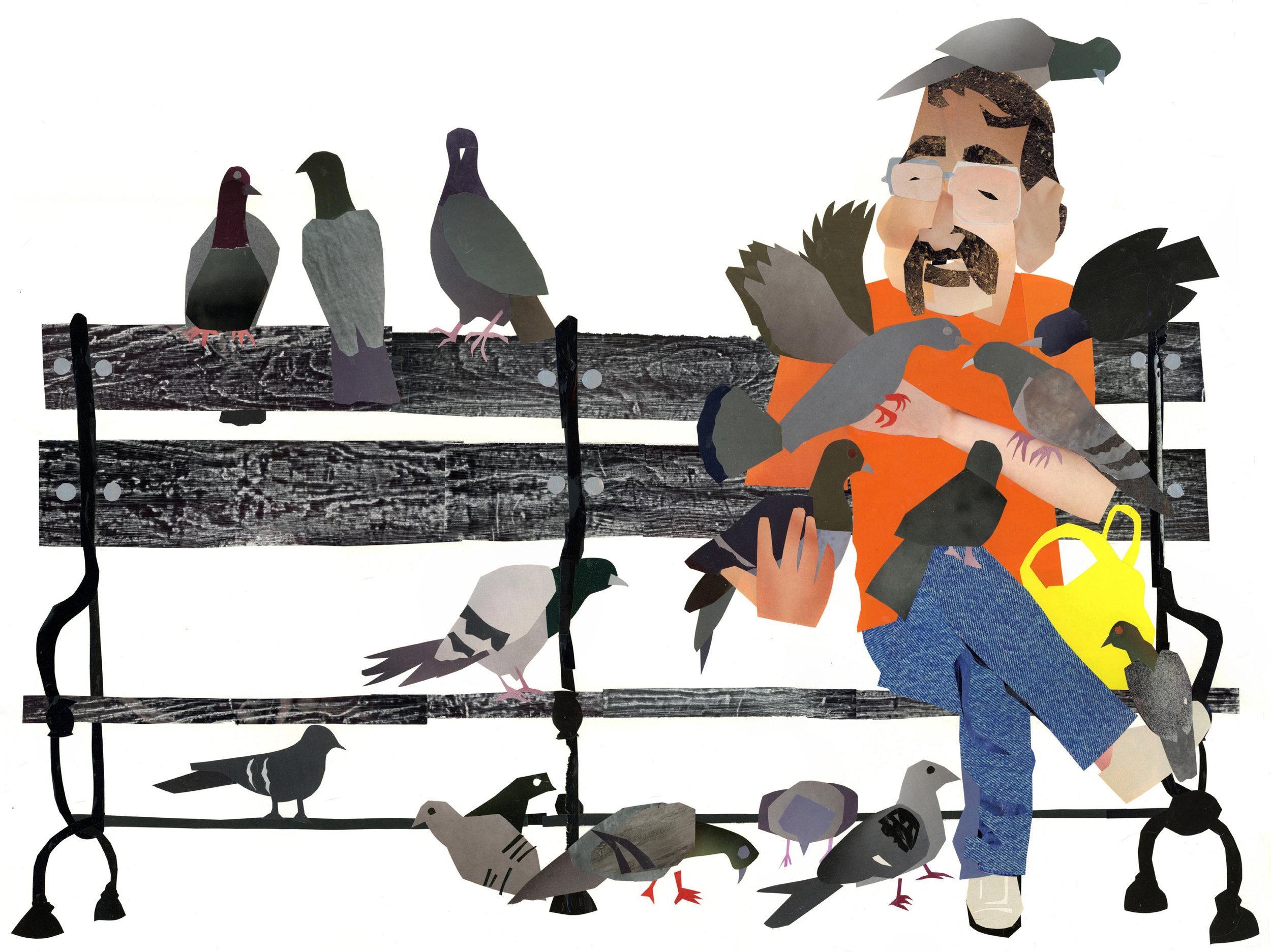 Paul the Birdman of Washington Square Park