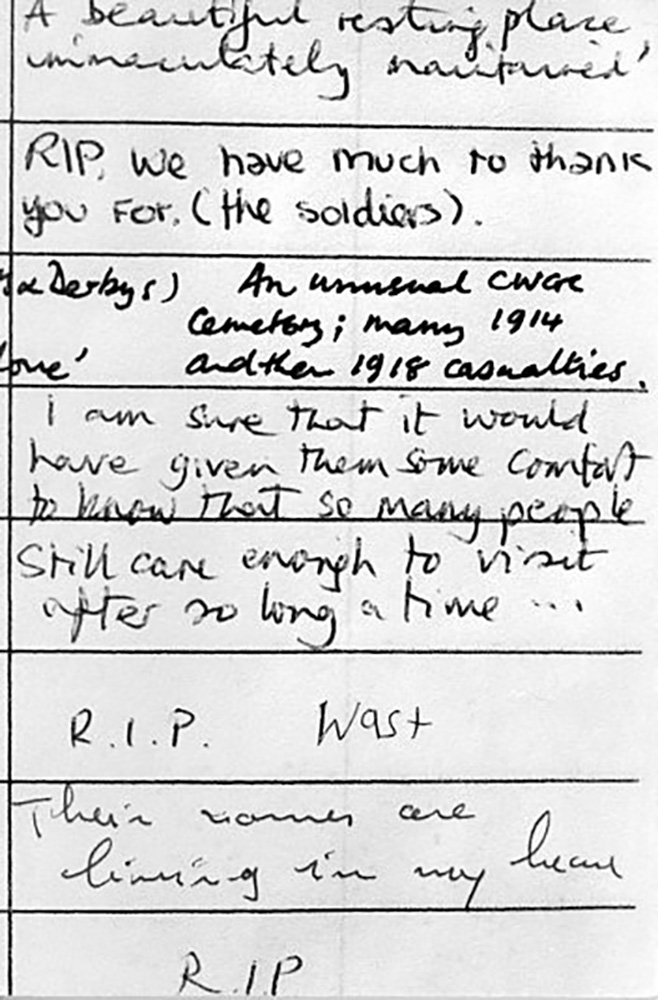 Cemetery Visitors Comments