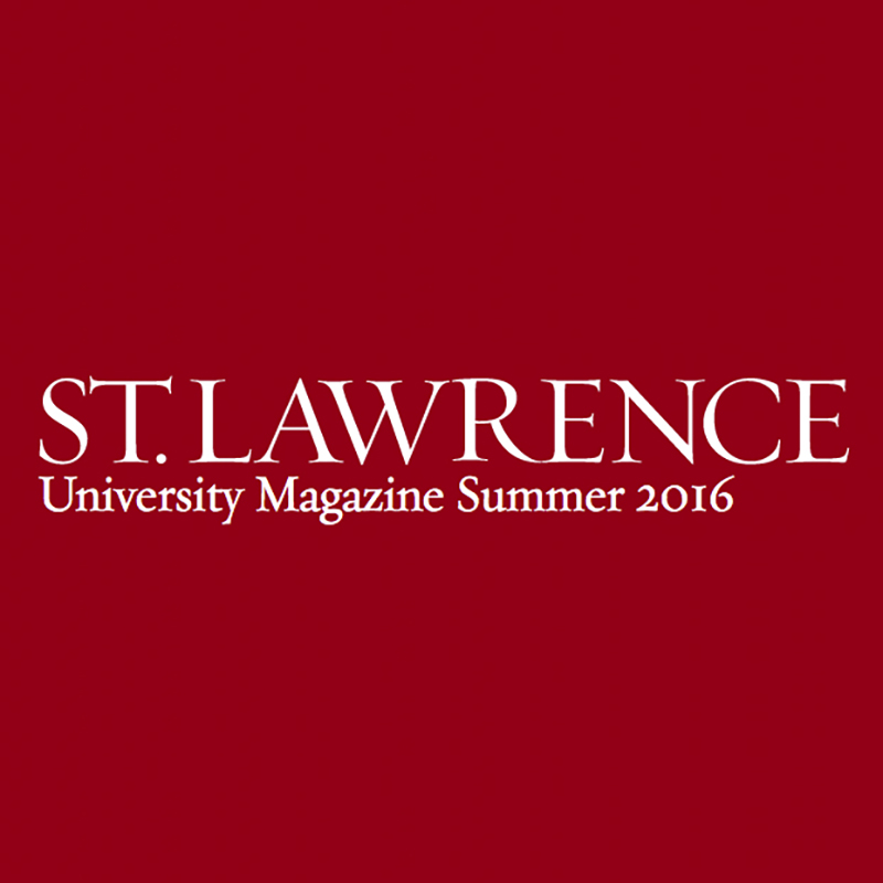 "Short Essay in University Magazine  St. Lawrence University Magazine, ""The Scenario-Setter"", Summer 2016 Brief essay by the artist about the creation of the  Muscle Girl  photograph"