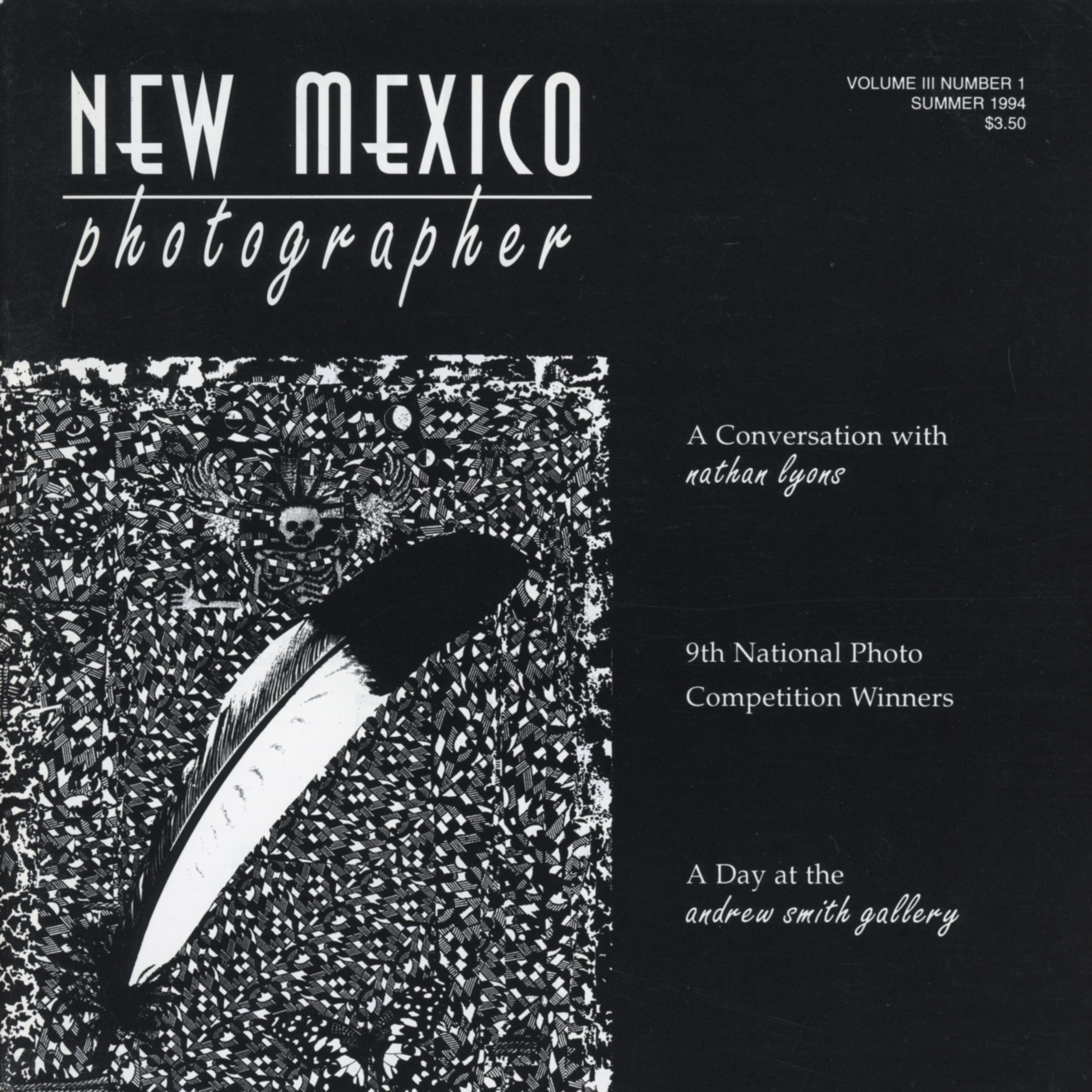 "Interview in Regional Photography Magazine  New Mexico Photographer, ""Jane Alden Stevens"", by Kelly Stoddard, Vol. III, No. 1, Summer 1994 Interview with the artist and accompanying photograph"