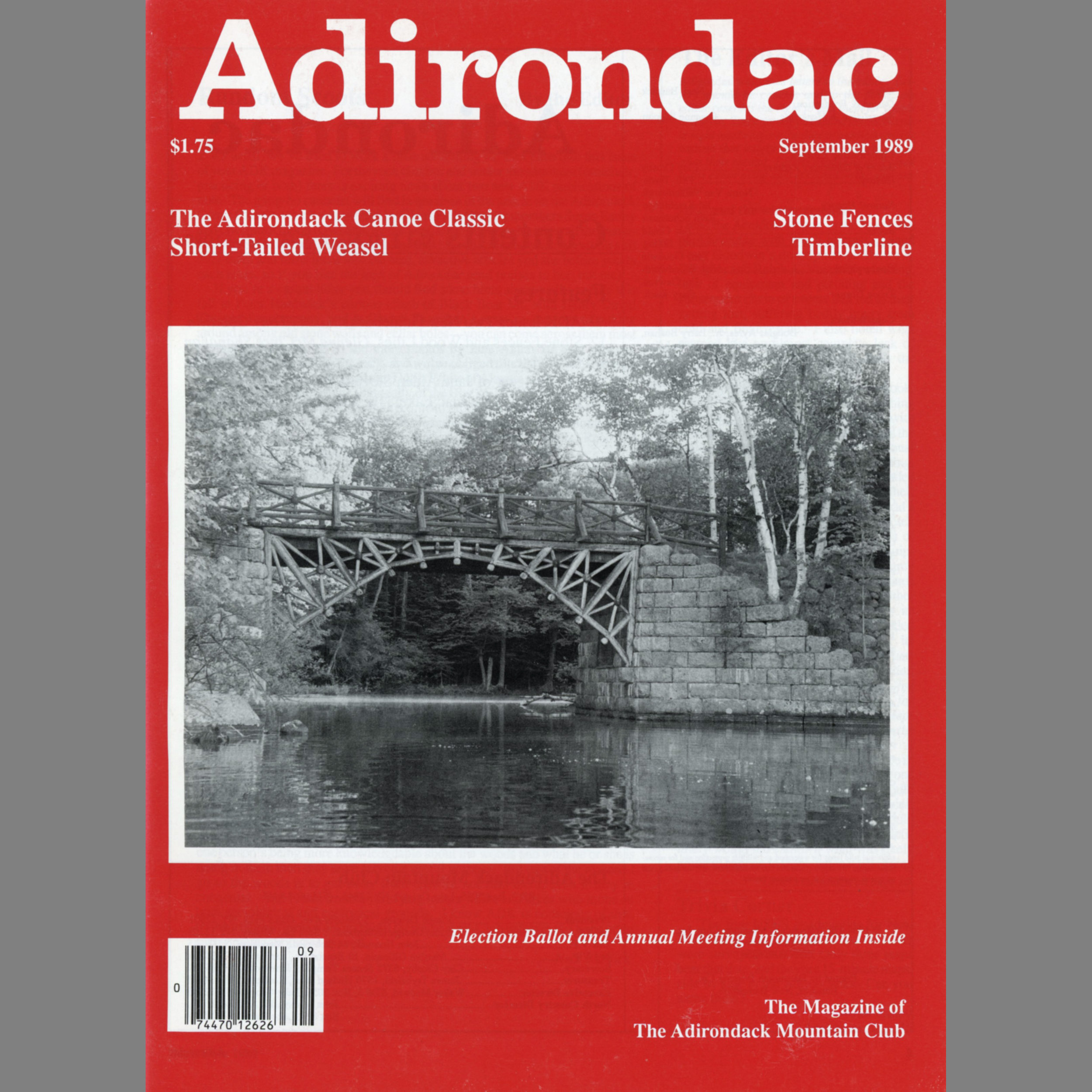 "Portfolio Published in Monthly Magazine   Adirondac,  ""The Imagery of Jane Alden Stevens"", September 1989 Portfolio of panoramic images taken in the Adirondack Mountains of New York State"