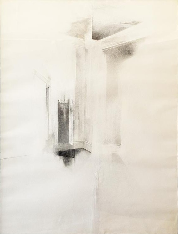 UNTITLED (FROM THE HE WHO ENTERS EXITS SERIES)  GRAPHITE AND CHARCOAL ON PAPER