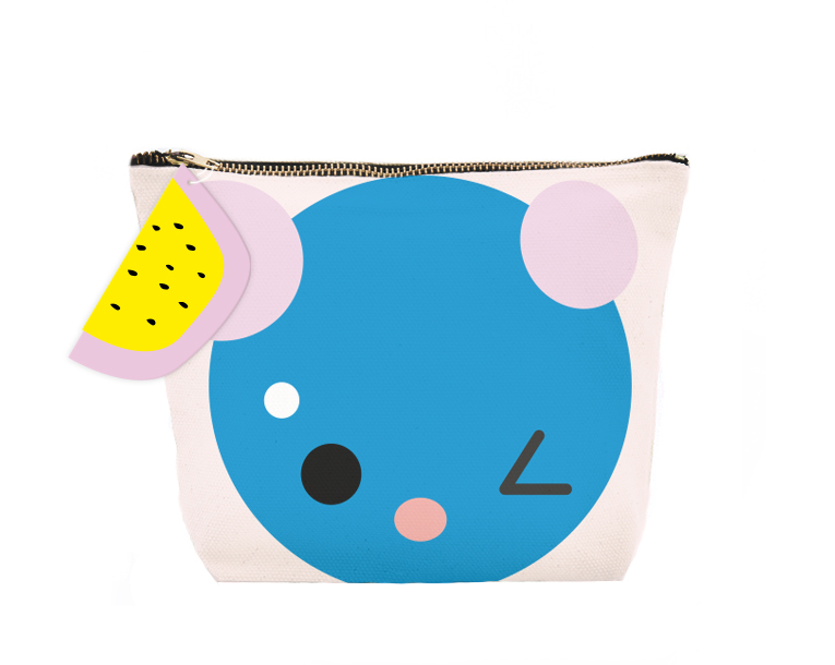 SUPERCUTE make-up bag,  blue