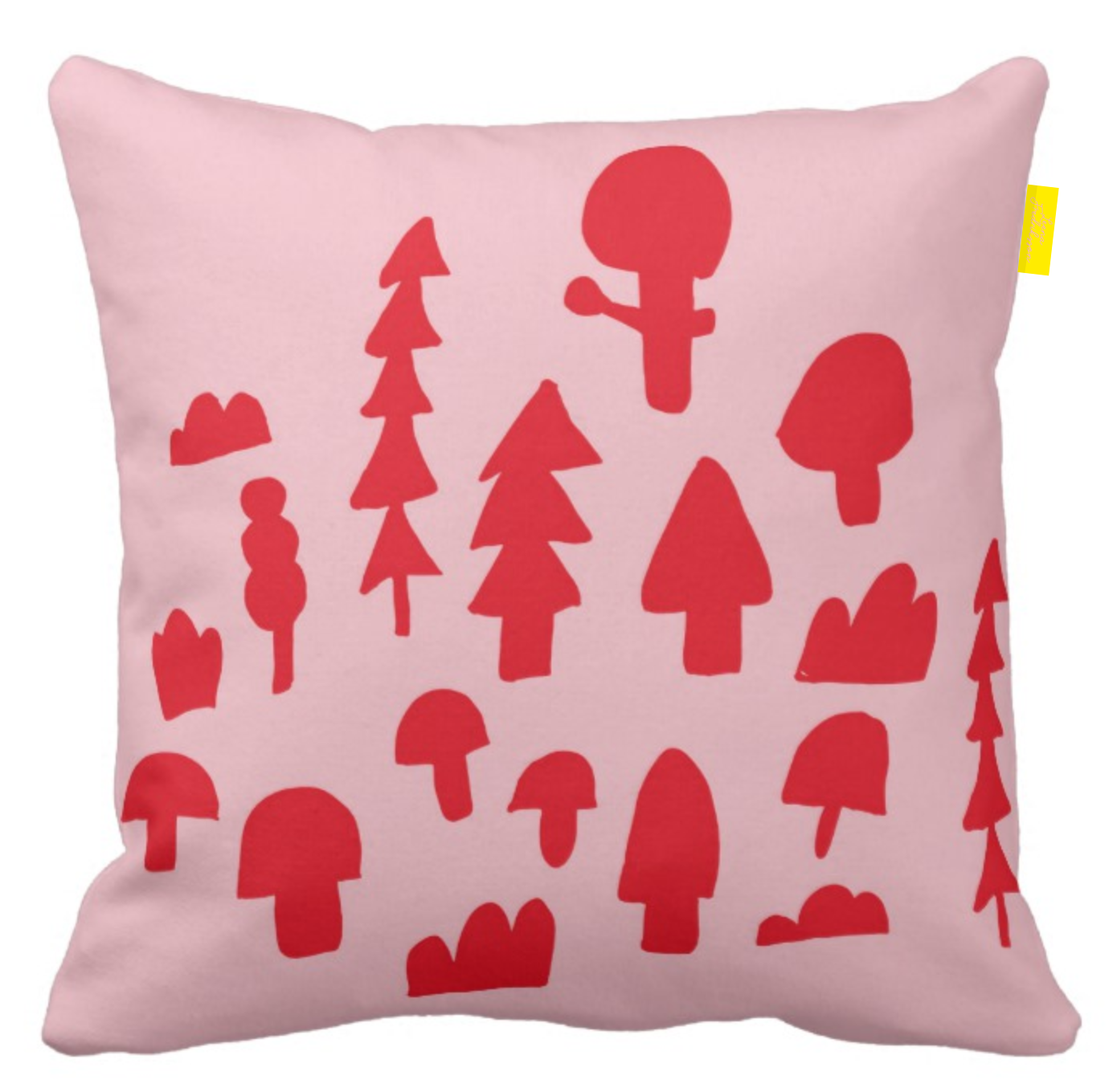 ISLET forest,  pillow, red