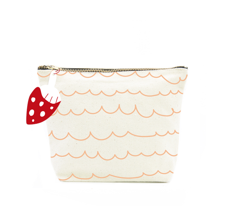ISLET waves,  make-up bag, cream
