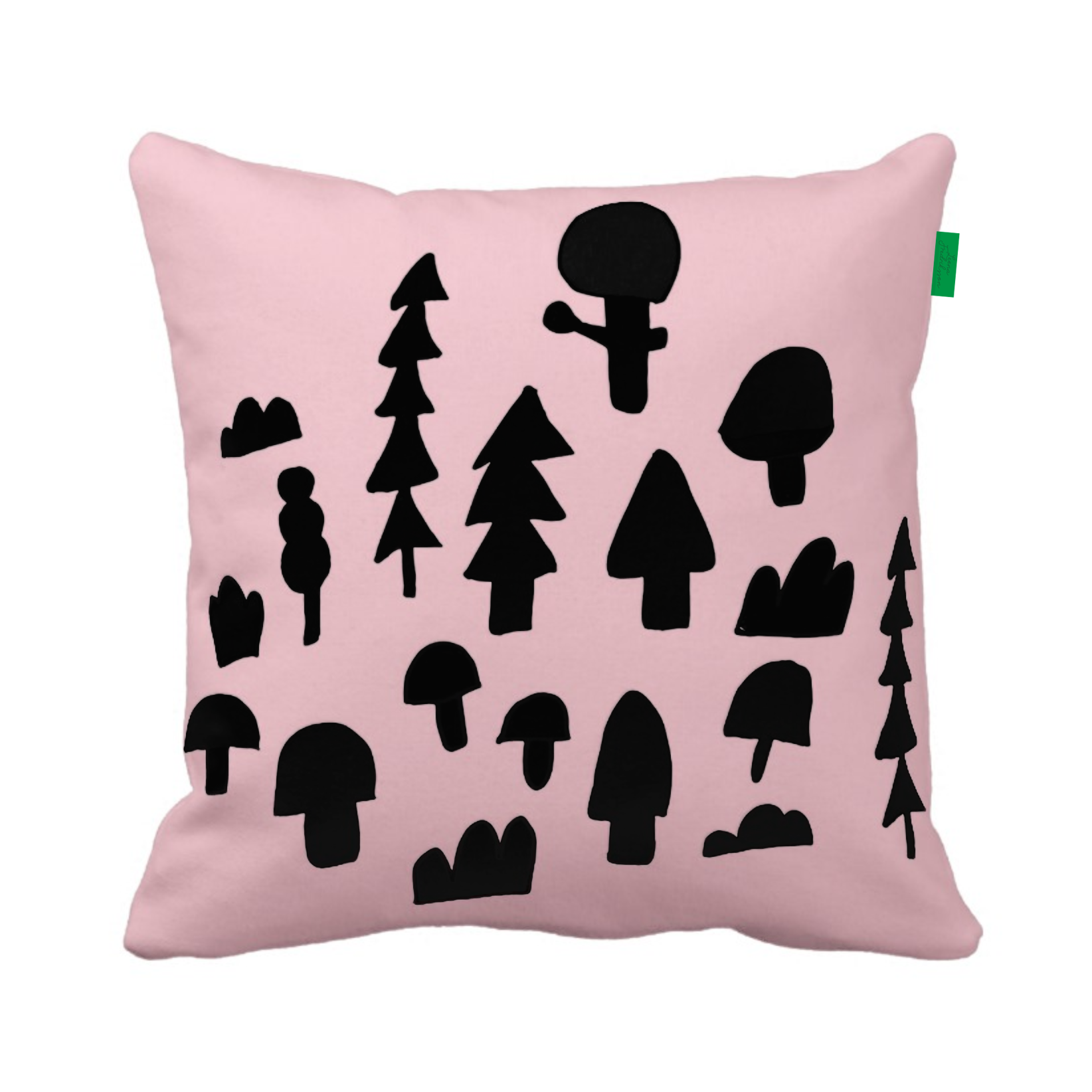 ISLET forest,  pillow, black