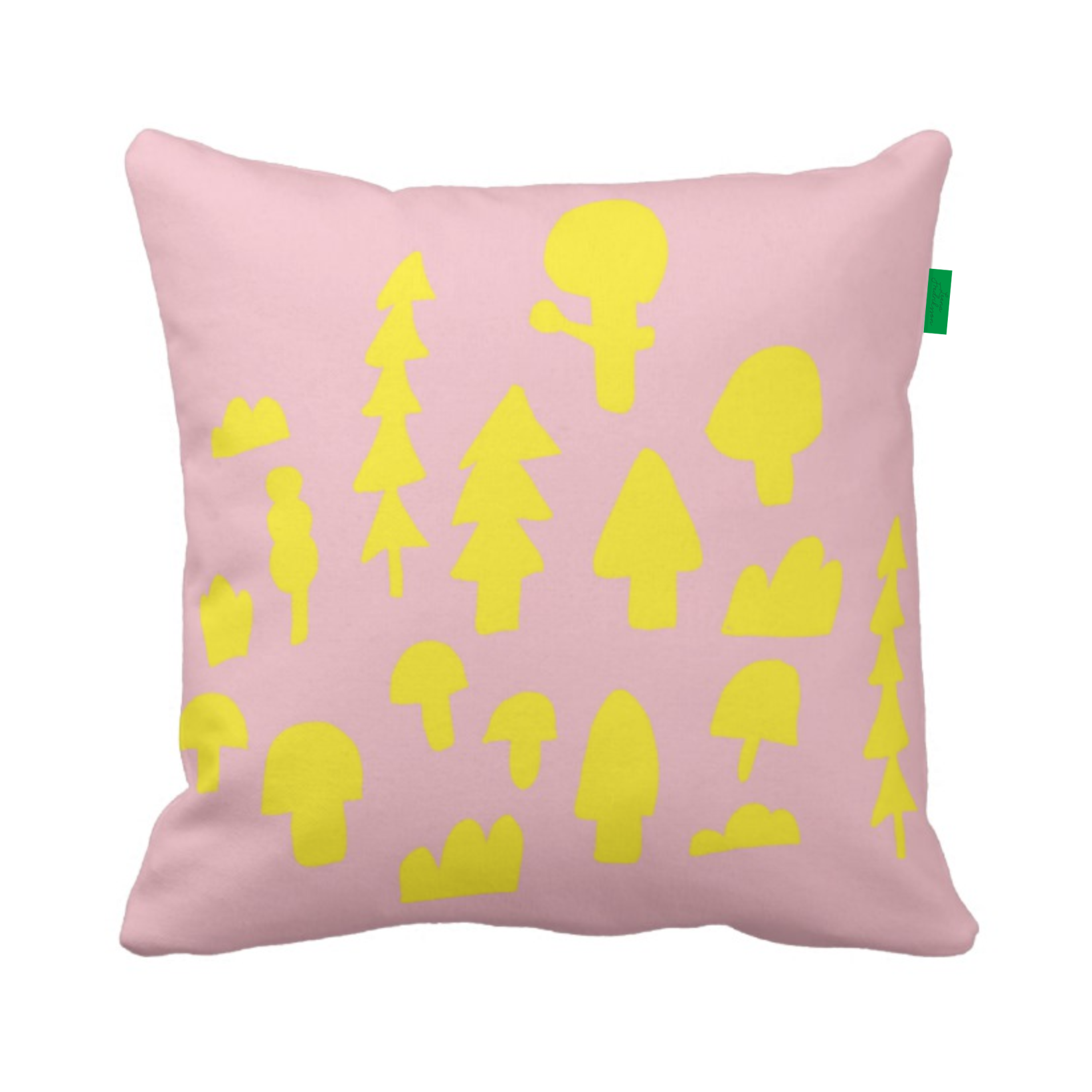 ISLET forest,  pillow, yellow