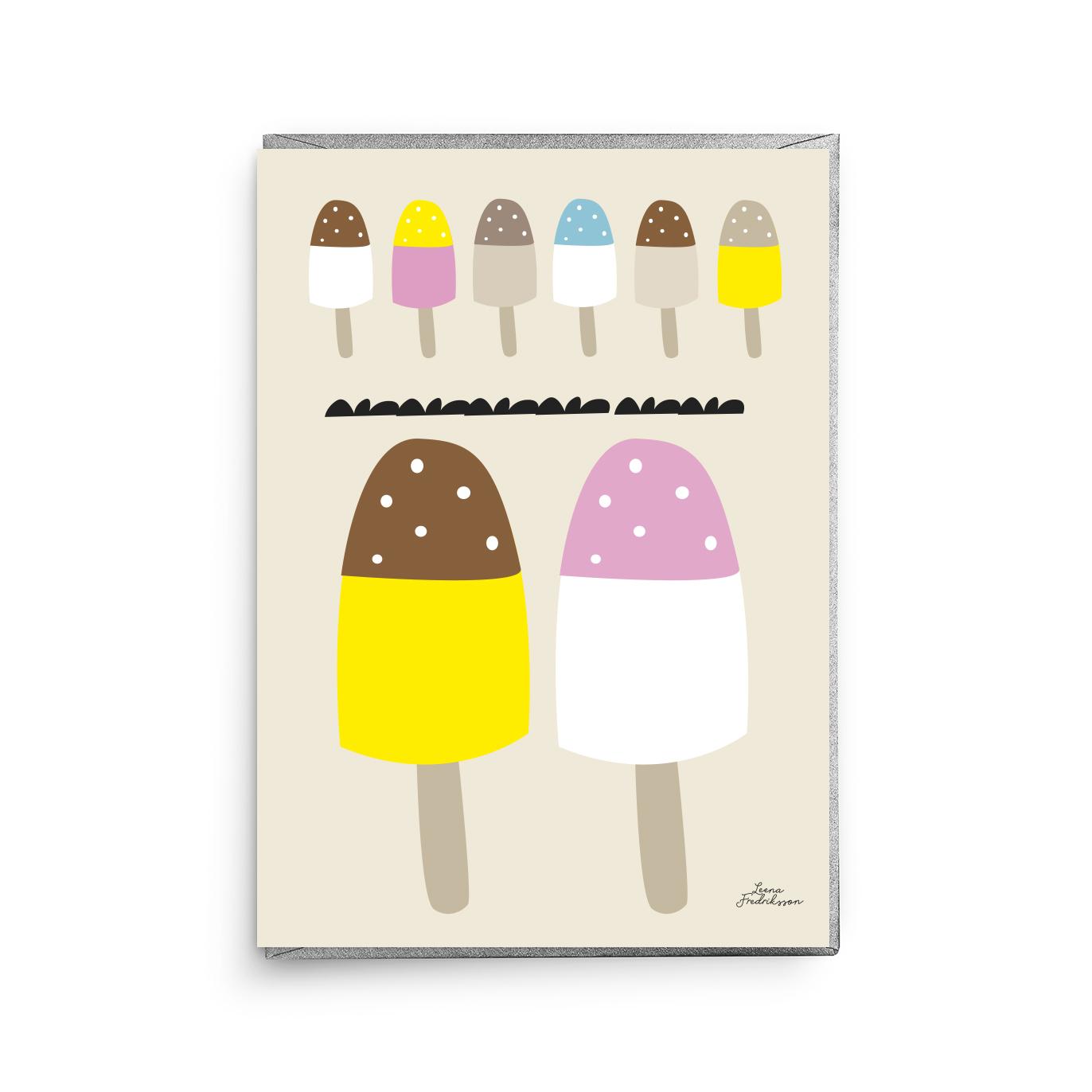 KOTI jäätelöt,  greeting card
