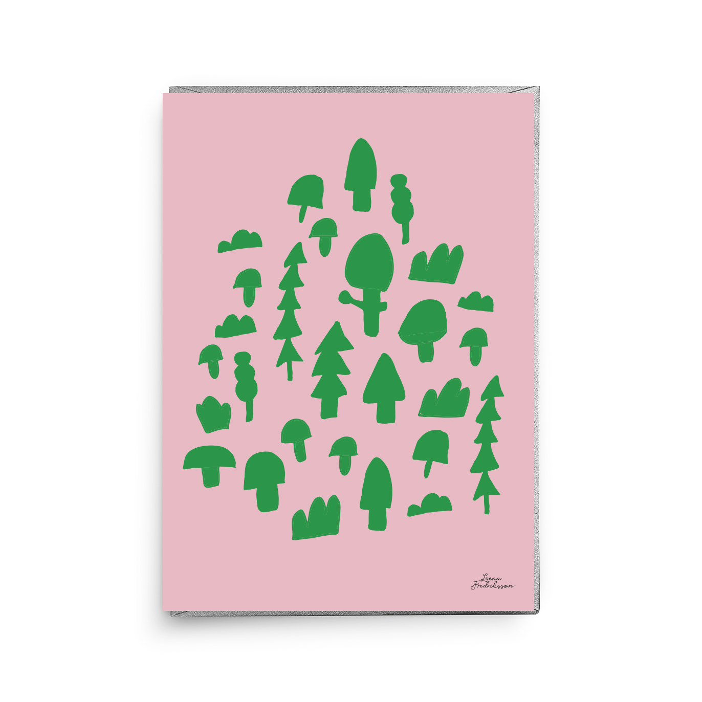 ISLET forest,  greeting card, green