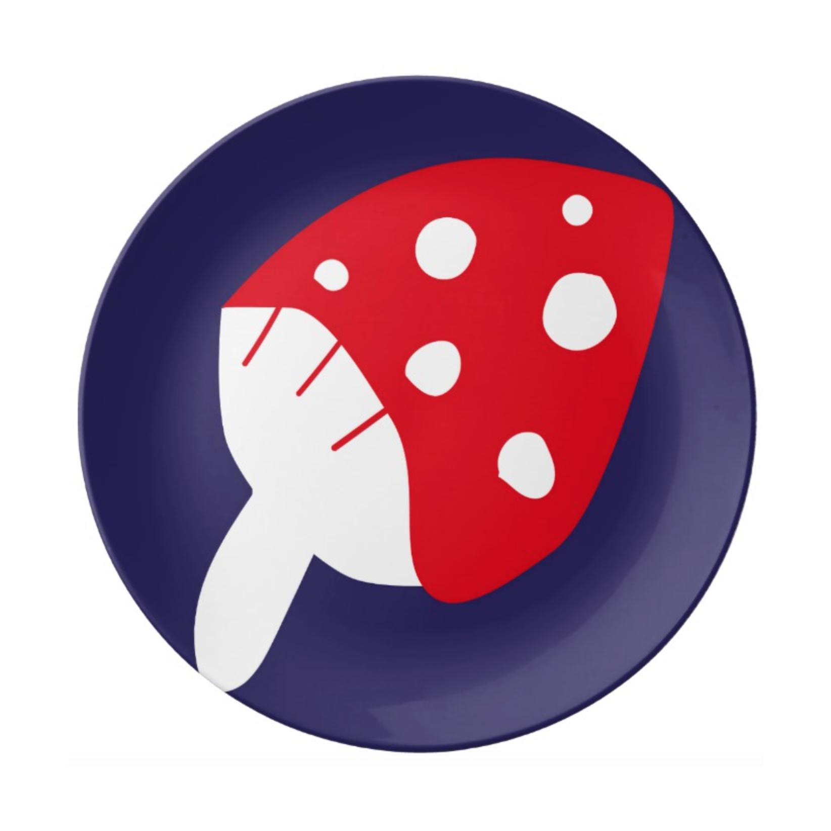 ISLET mushroom,  tray, blueberry