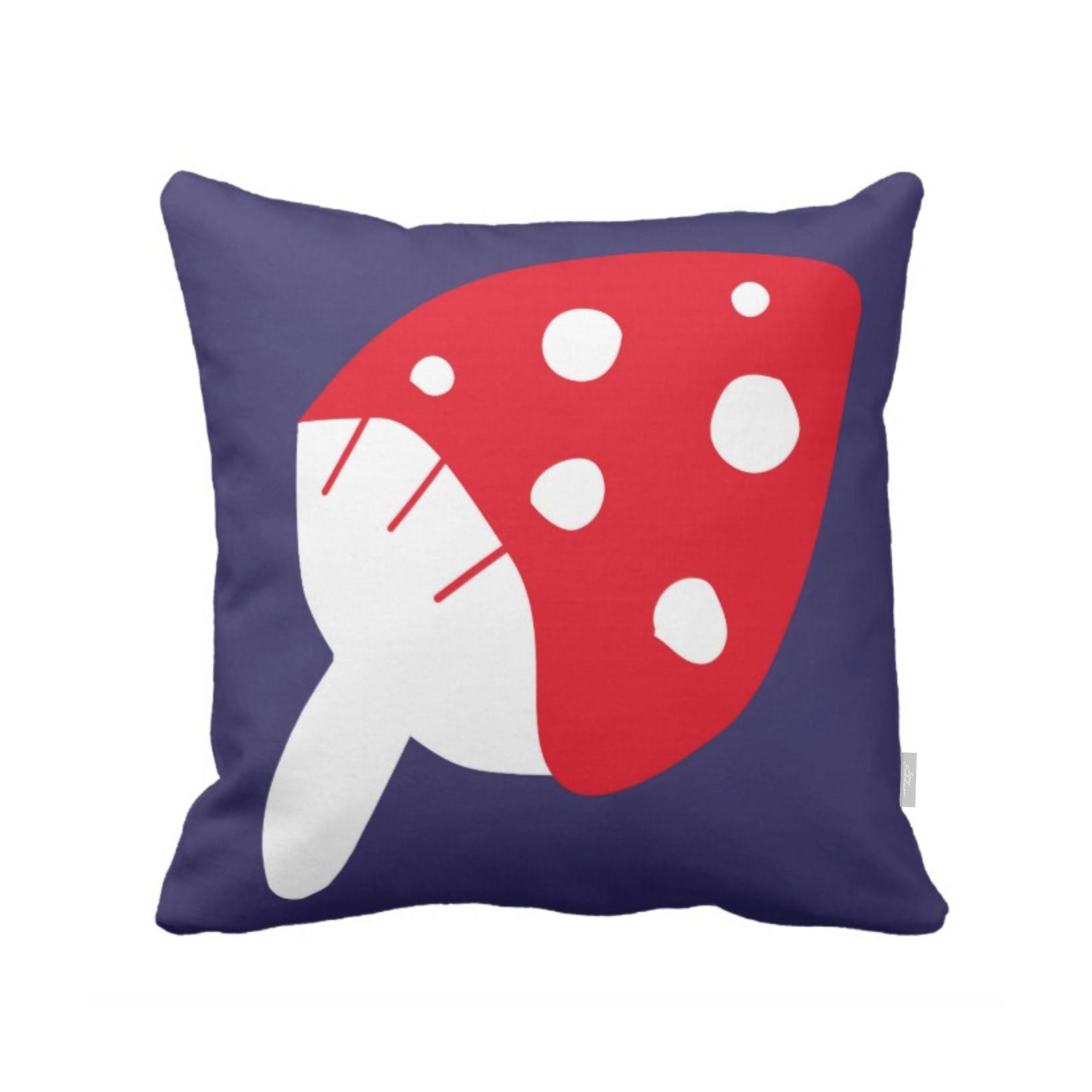 ISLET mushroom,  pillow, blueberry