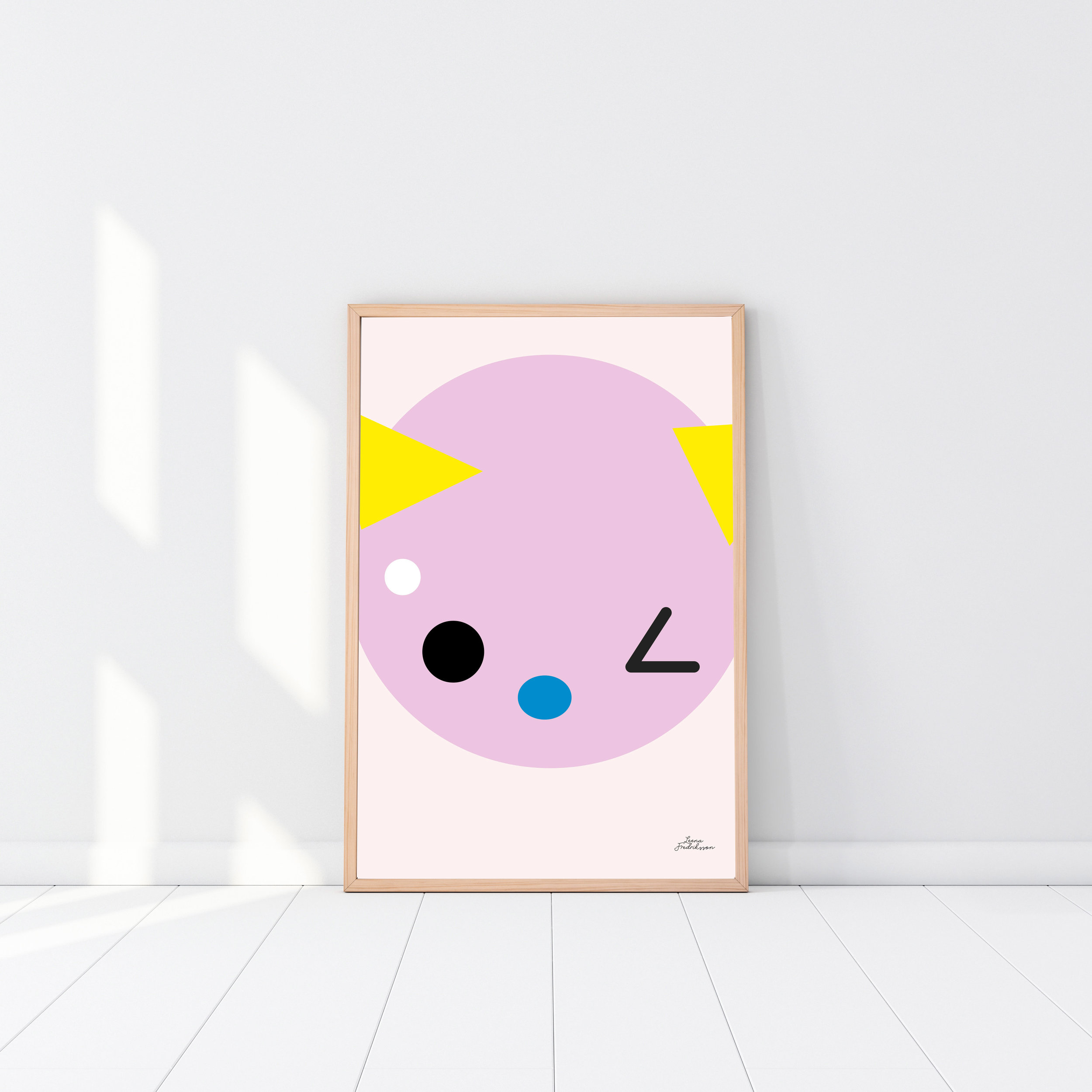 SUPERCUTE poster,  pink