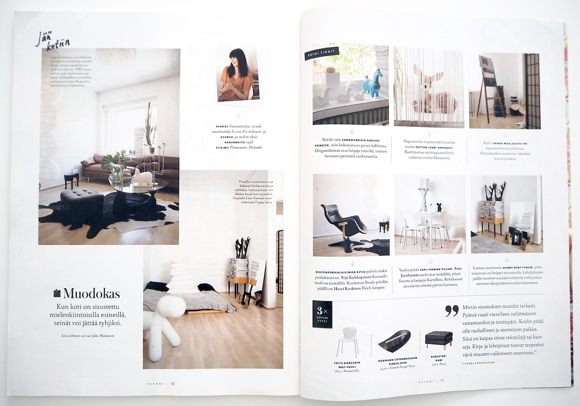 TRENDI Magazine 09 / 2011 Photos: Anna Riikonen, text: Liisa Jokinen