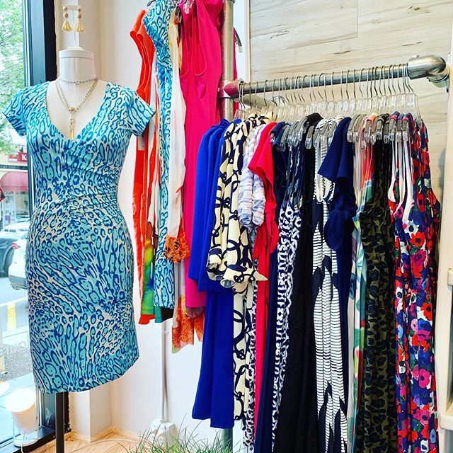 "🌿👗""Where once were coats for rainy ☔️ messes... You now will find our.... s 🌞 m m e r  d r e s s e s!"" we are so excited to offer fun and fanciful frocks from new labels ... @juliebrownnyc @islebymeliskozan @beachlunchlounge @katherine.way  as well as customers favorites @gretchenscottdesigns @molly_bracken_officiel @whimsy.rose @davidclineonline @clarasunwoo  grab your cutest 👡 👠🥿 and come on in & play  D r E s S 👗👗👗 u P! . . . #boutiqueshopping #shoplocal #morristownnj ##summer2019"