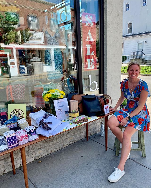 "⏰Just a couple hours left for you to hit our ""super summer sidewalk sale!"" our lovely own  @clare_mohan will be sitting pretty out front until 5:30 with her table and rack of items from 30-40% off⏰ . . . #boutiqueshopping #shoplocal #shoplocal #morristownnj #brickandmortar #summer2019"