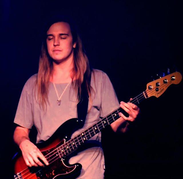 Harry in the zone. Link to music in bio . . . . #fullsail #live #thespinningstillness #rock #indie #music #indiemusic #indierock #rocknroll #guitar #electricguitar #guitarist #amp #pbass #bassguitar #drums #drumset #fender #distortion #vocals #voice #thestrokes #thekillers #arcticmonkeys #kingsofleon #postpunkrevival #orlando #florida  #orlandoflorida #orlandofl