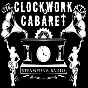 The Clockwork Cabaret is the premier steampunk music podcast to ride the windy wilds of the aethernet. Spontaneous, silly, and ever expanding, our goal is to pump coal-heated music o' gears directly into your copper-plated ears and steampowered hearts.