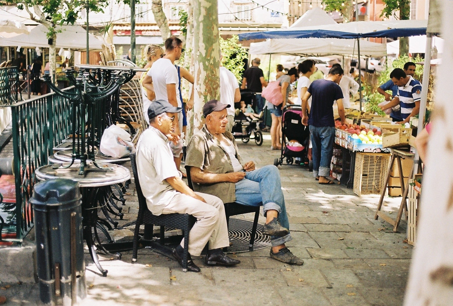 Love taking photos of old people at markets