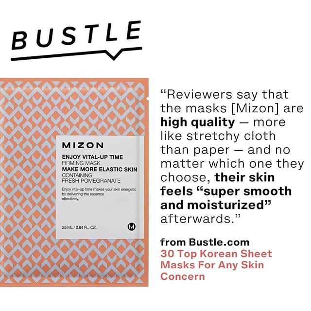 "Don't just trust us - Mizon Facemasks come in the Top 4 Korean Facemasks by Bustle.com -""Reviewers say that the masks are high quality — more like stretchy cloth than paper — and no matter which one they choose, their skin feels ""super smooth and moisturized"" afterwards."" #kbeauty #sheetmasks #facemasks #mizon #koreanbeauty #dublinbeautybloggers #skincaretips #skincare #irishbeautybloggers #koreansheetmask"
