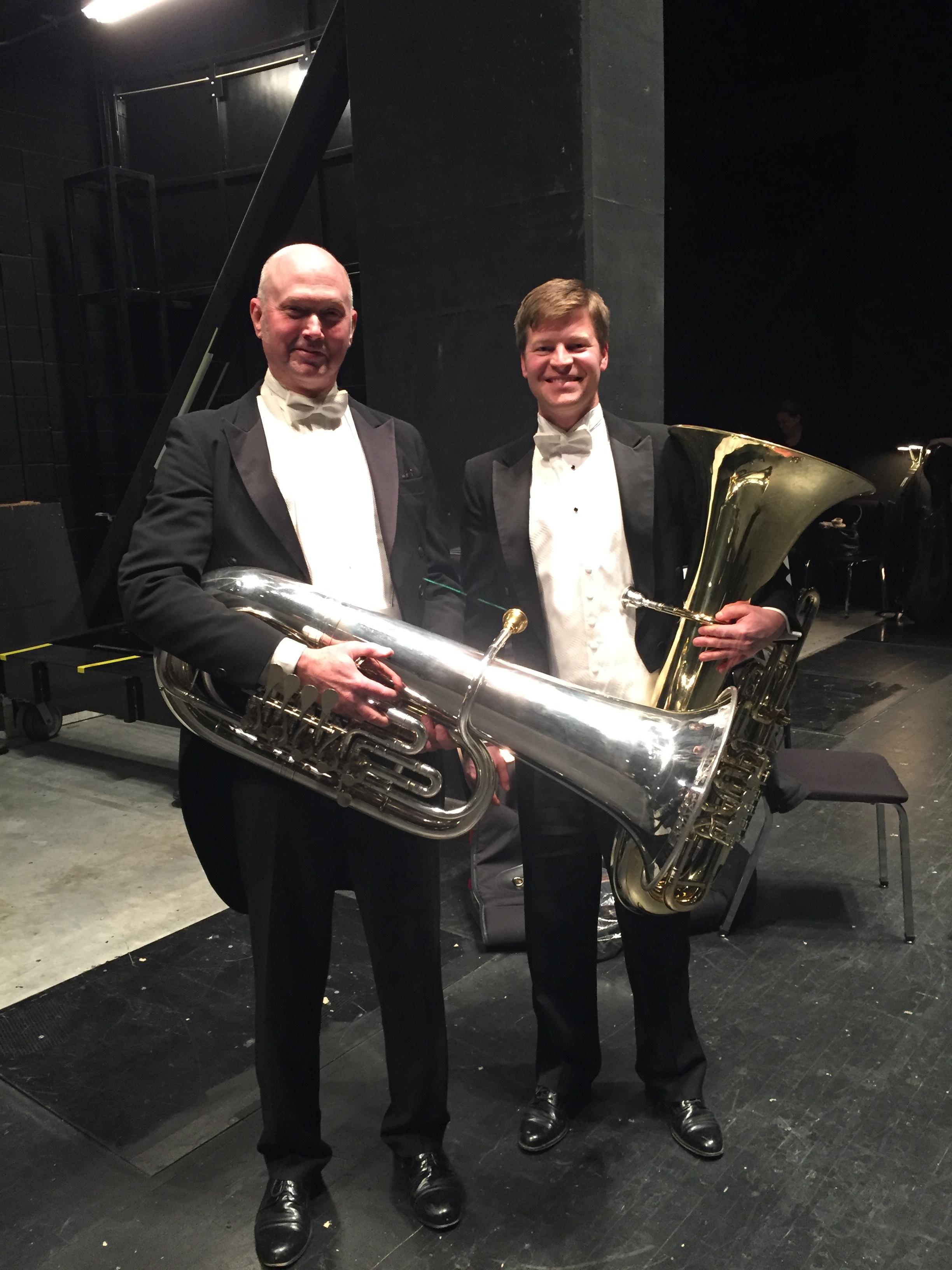 Ted Cox, Principal Tuba Oklahoma City Philharmonic, and I after Symphonie Fantastique.