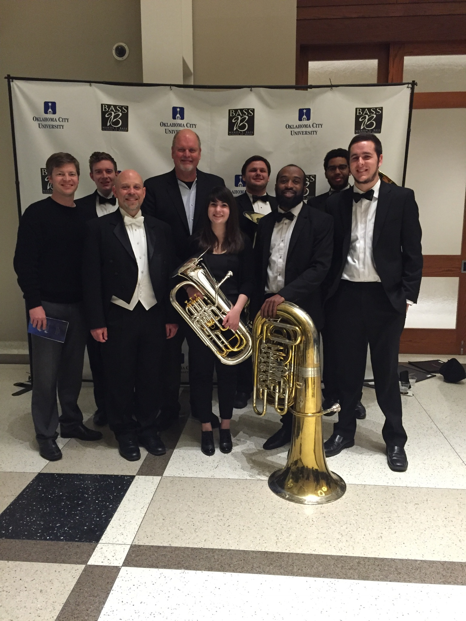 Post performance pic with the studio and Michael Daugherty.