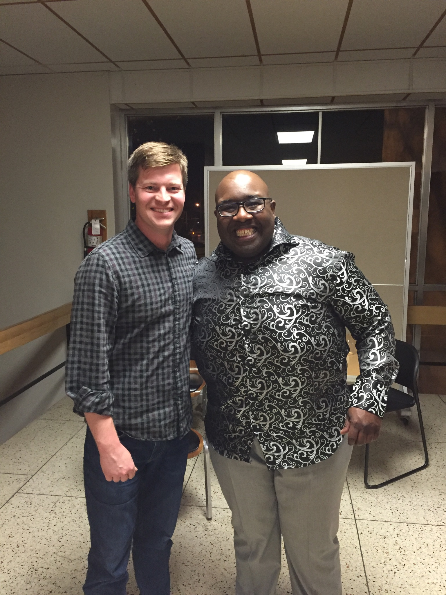 Demondrae Thurman and I during the low brass workshop at Missouri State University.