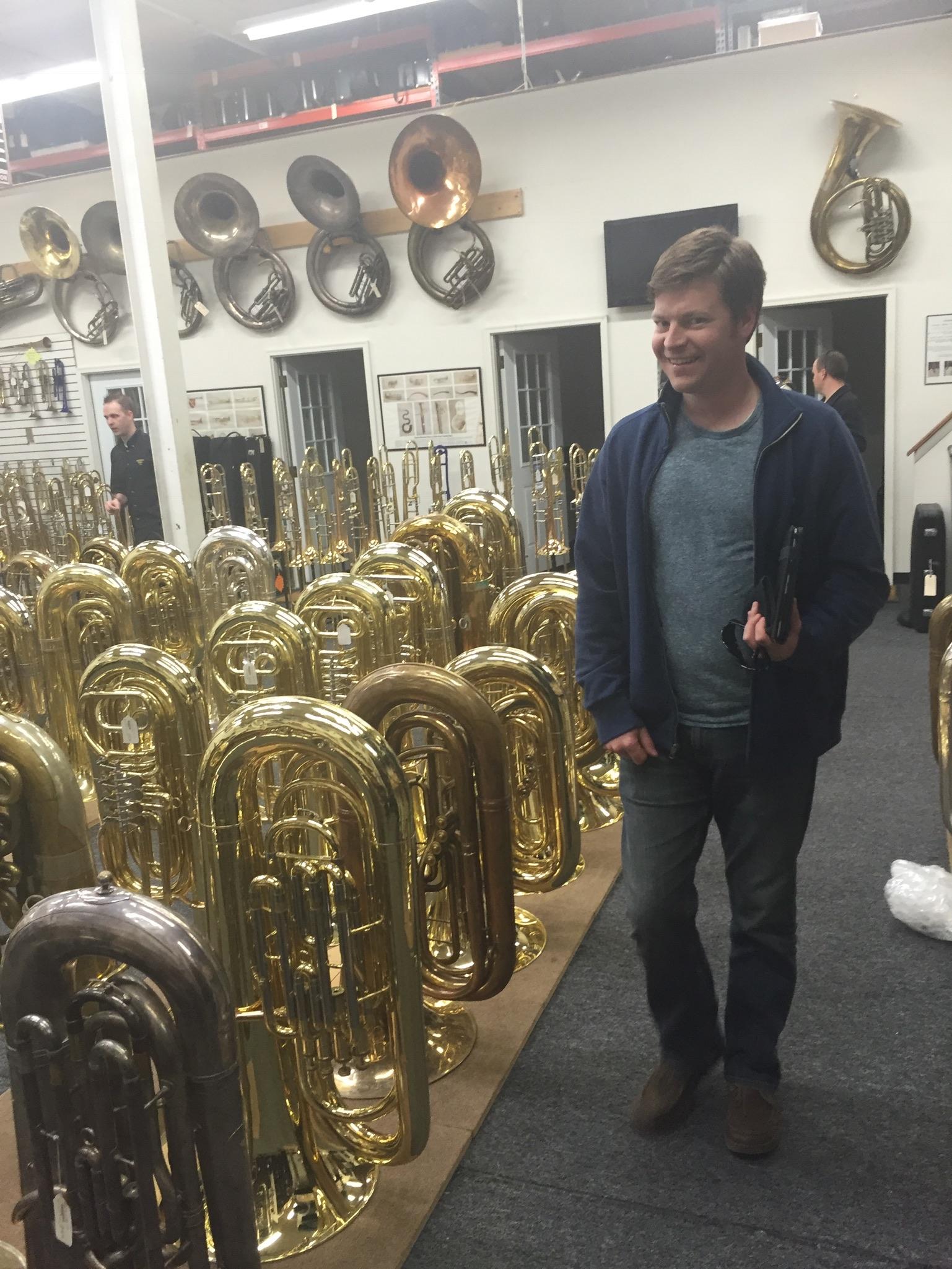 Having fun at Baltimore Brass Company.