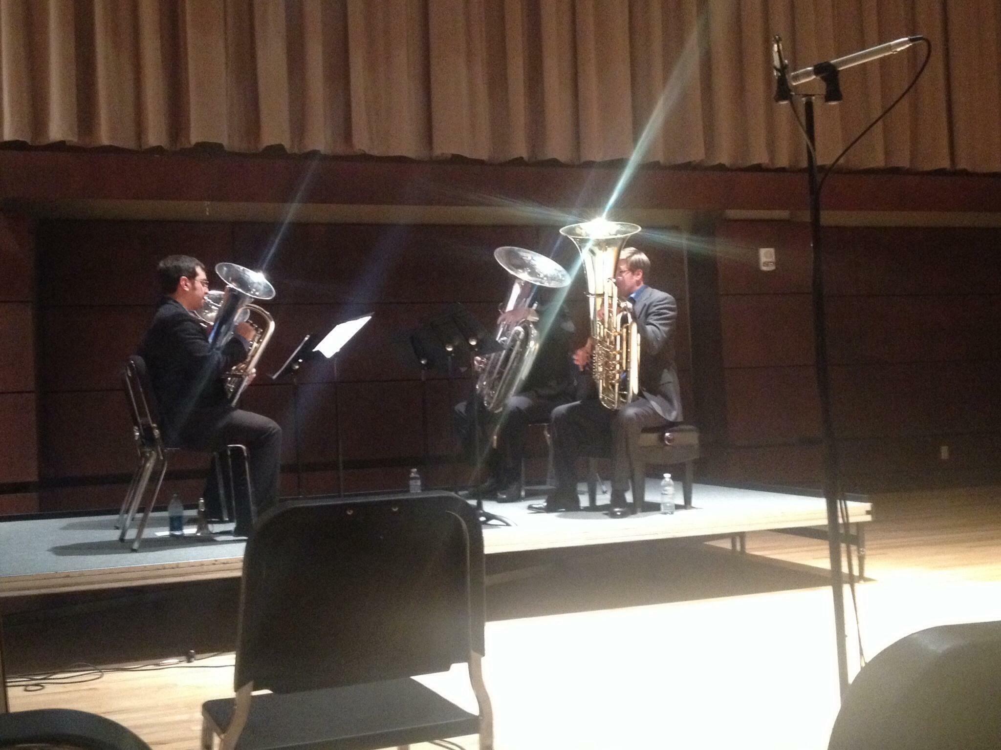 Founders Quartet recital at OCU with Jamie Lipton, Danny Chapa, and Steve Kunzer.