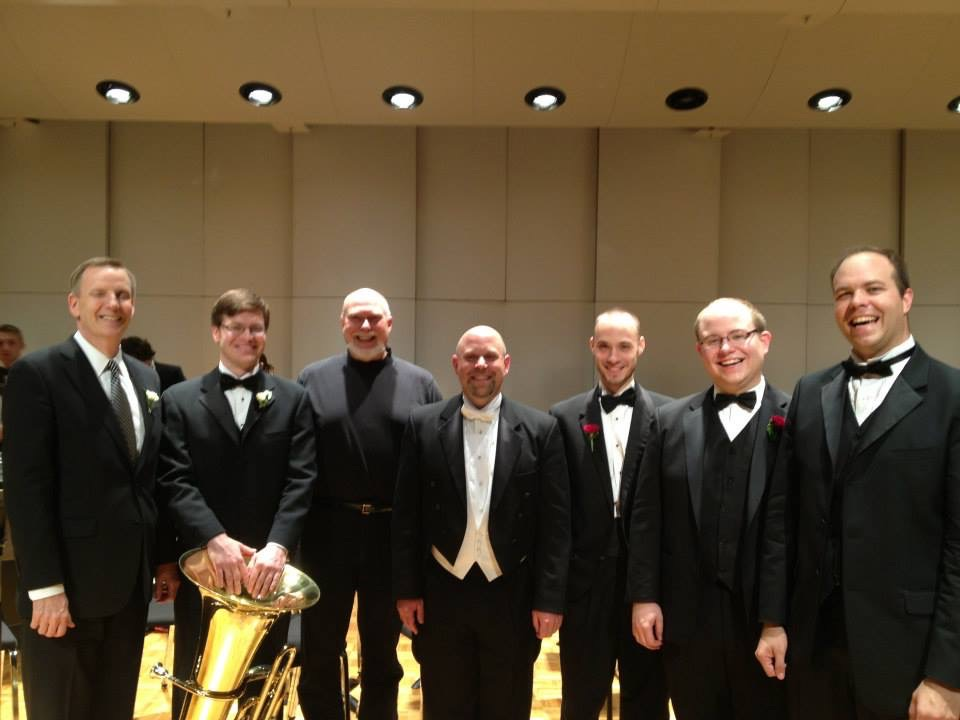 Post Tubby the Tuba pic with Mark Parker, me, David Herendeen, and Matt Mailman.