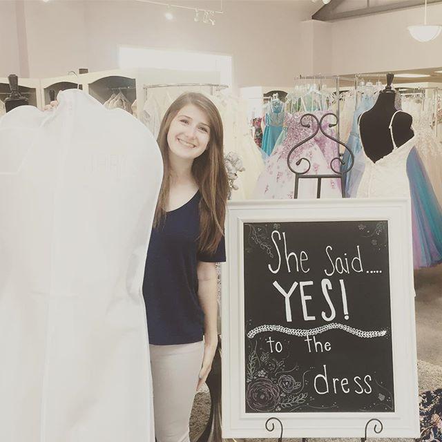 Chloe found the dress of her dreams today! #hartsbride #love #bride #wedding2017 #wedding #idahofalls #idaho