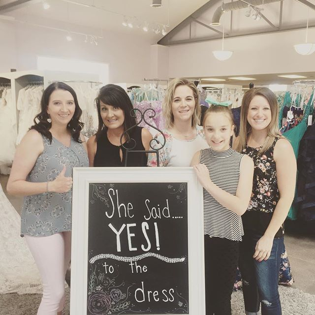 Shanel found the perfect dress today at Hart's! #hartsbride #love #wedding2017 #wyoming #wyomingbride #cokevillewyoming #bride