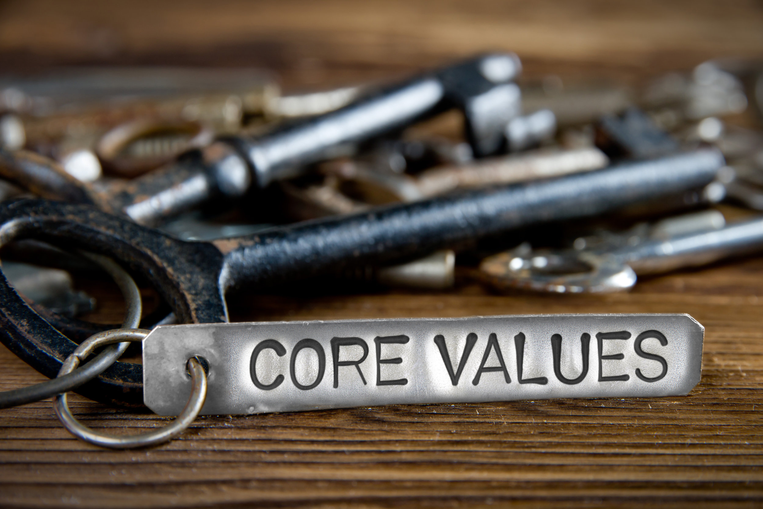 CORE VALUES IN ACTION - VALUES AREN'T JUST WORDS; THEY ARE MUSCLES.