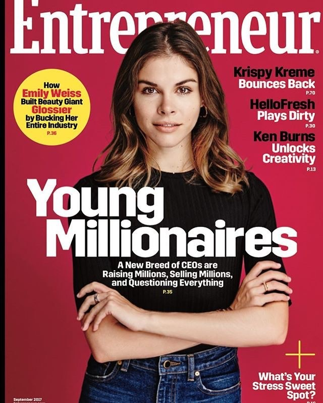 """""""Glossier founder and CEO Emily Weiss has created a social-media fandom machine every time she launches a product. 💄💗With names like 'Wowder' and 'Cloud Paint,' """"now girls are Googling our trademarks,"""" trying to sleuth what Glossier's next release might be, Weiss says. The breakout beauty upstart experienced 600 percent year-over-year growth from 2015 to 2016. 📈 """"Glossier is based on the word 'dossier,' and we treat every product like it's a new issue. It's almost like, depending on what you're reading or what you collect, it creates this sense of community around this history and legacy, and one built on the next."""" (📸: @meredithjenks for @incmagazine) #businesschicks #womeninadtech #womenhelpingwomen #femaleentrepreneur #bossbabe #risingtidesociety #girlboss #womeninbiz #entrepreneurlife #dowhatyoulove #bandogirlgang #ladyboss #digitalnomad #womenintech #glossier #emilyweiss"""
