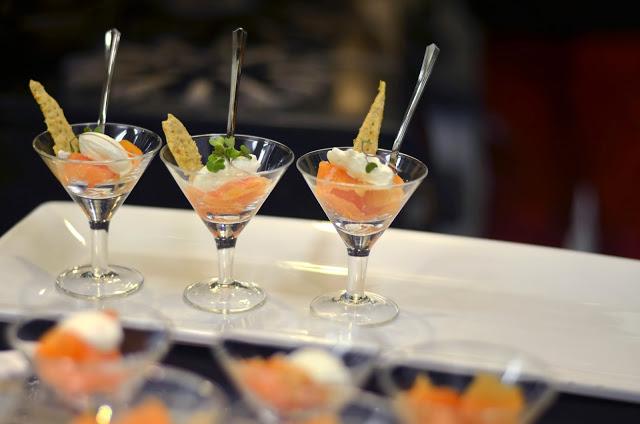 Smoked Salmon Martinis