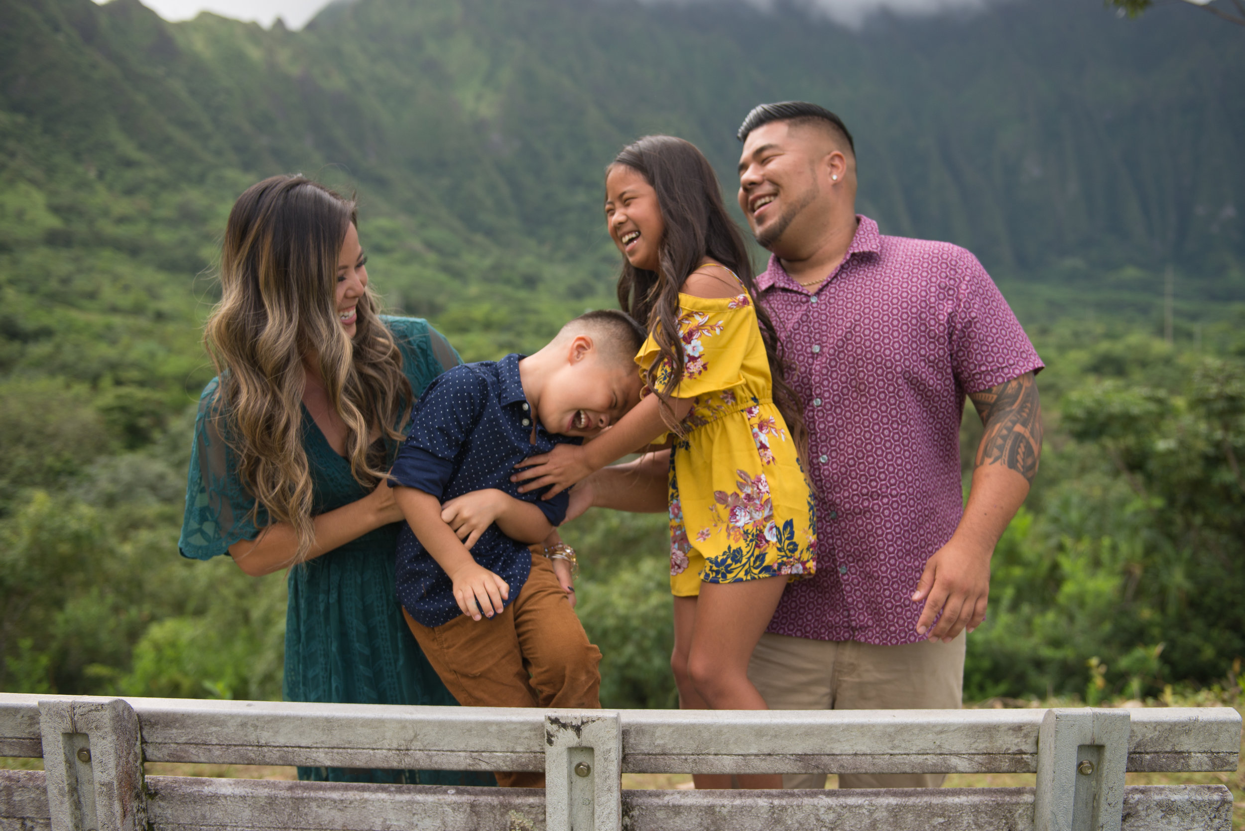 R Family Ho Omaluhia Botanical Garden Honolulu Hi Photographer