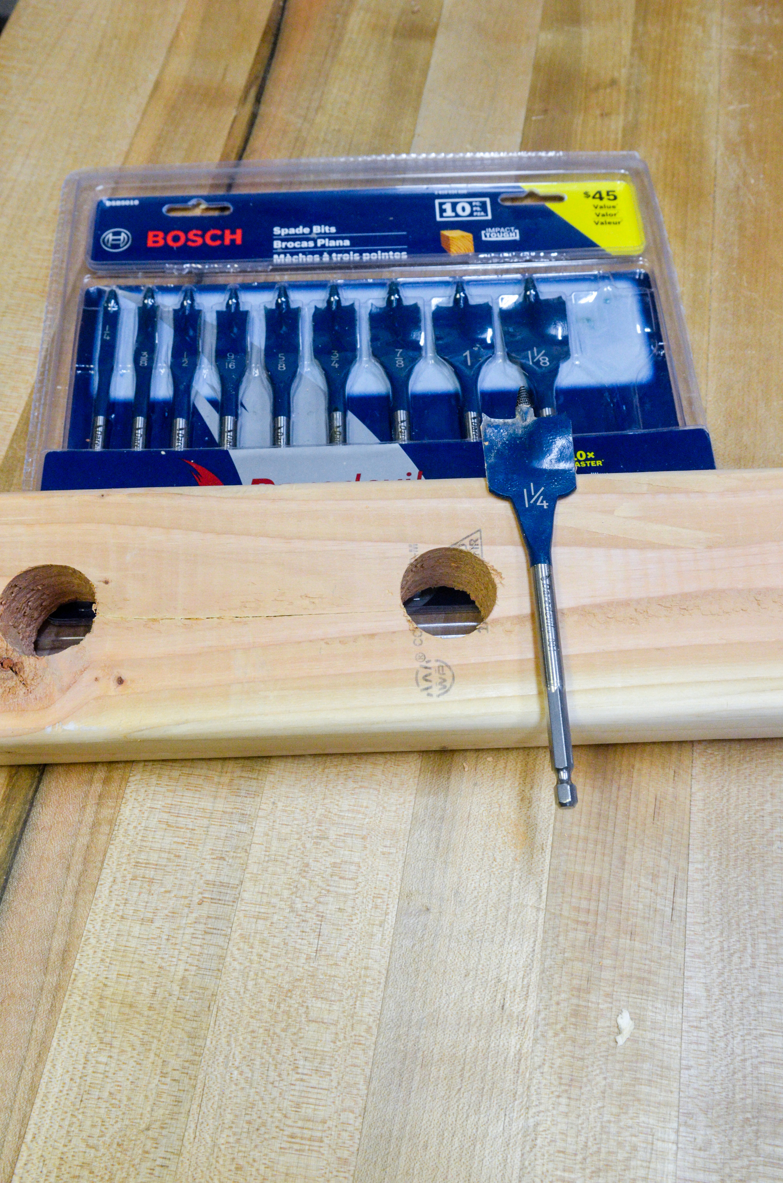 The Bosch Davedevil spade bits performed better than spade bits that I've used in the past.
