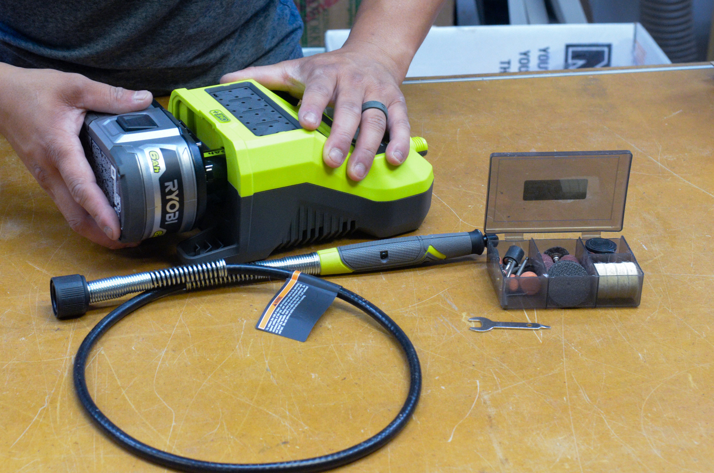 A flexible shaft rotary tool by Ryobi could have made shaping the interior cloud lift much simpler.