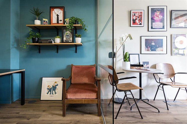 Emma founder of Trifle - interior design for Sonia Friedman Productions workspace