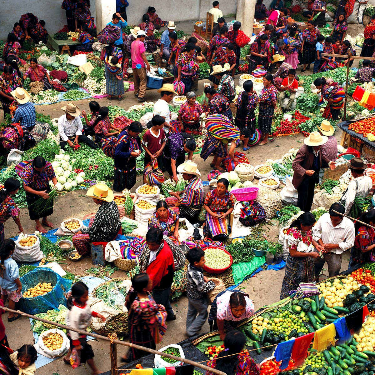 The Vegetable Market: Chichicastenango, Guatemala