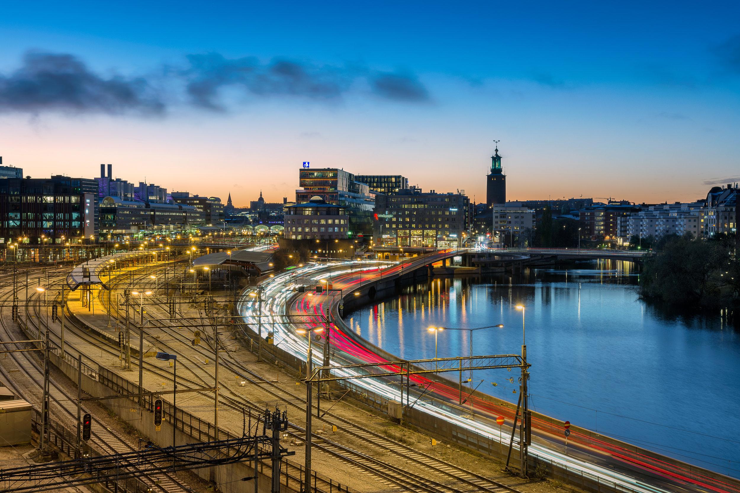 Stockholm city waking up