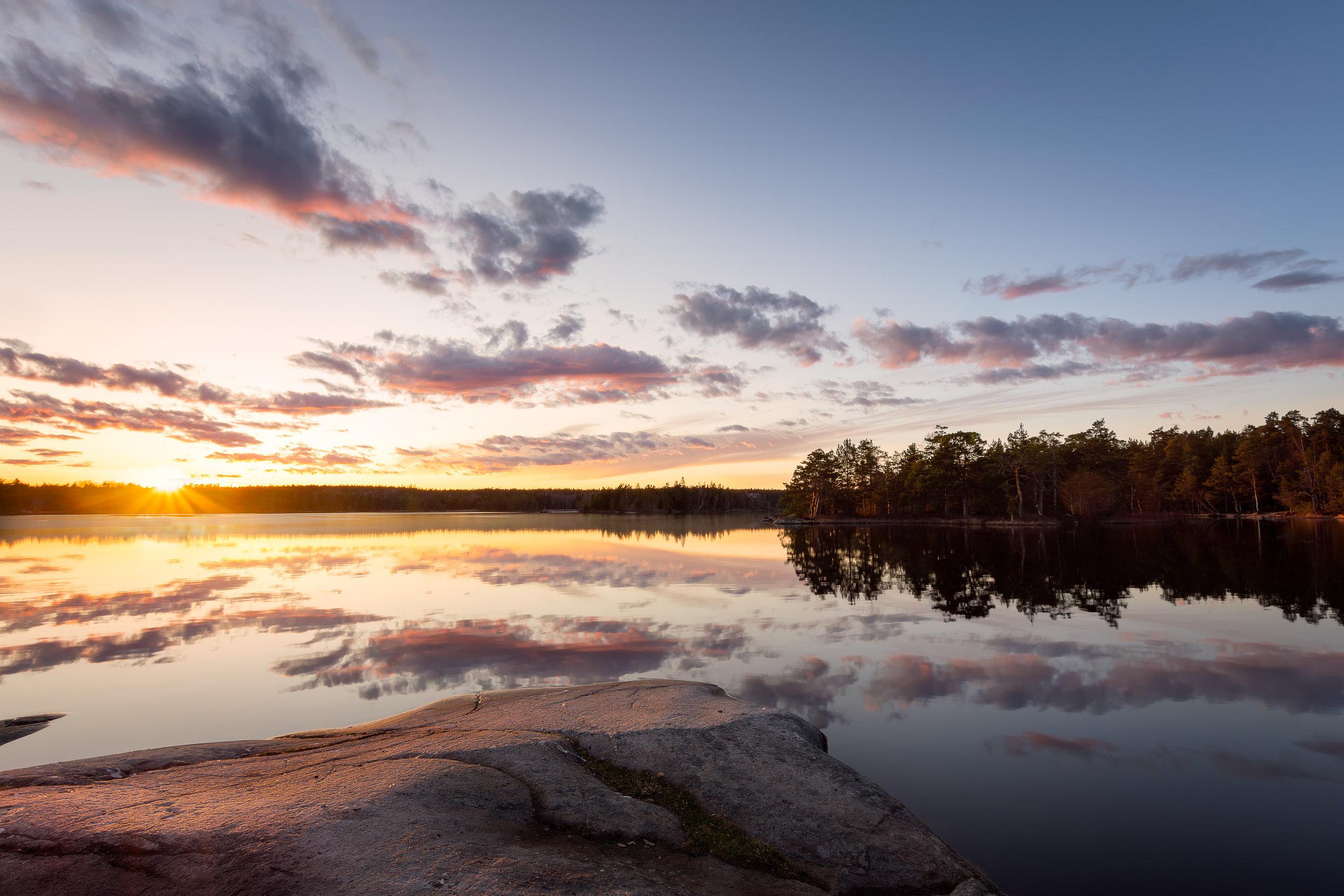Sunset light at lake Öran