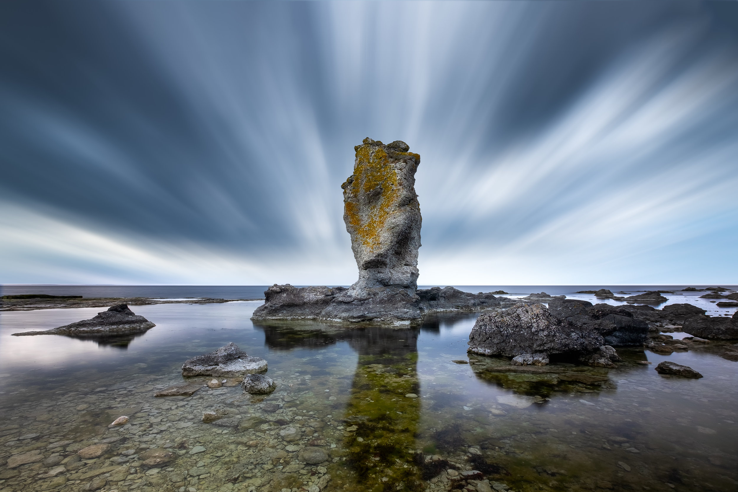 Sea stack photographed at Digerhuvud Nature reserve
