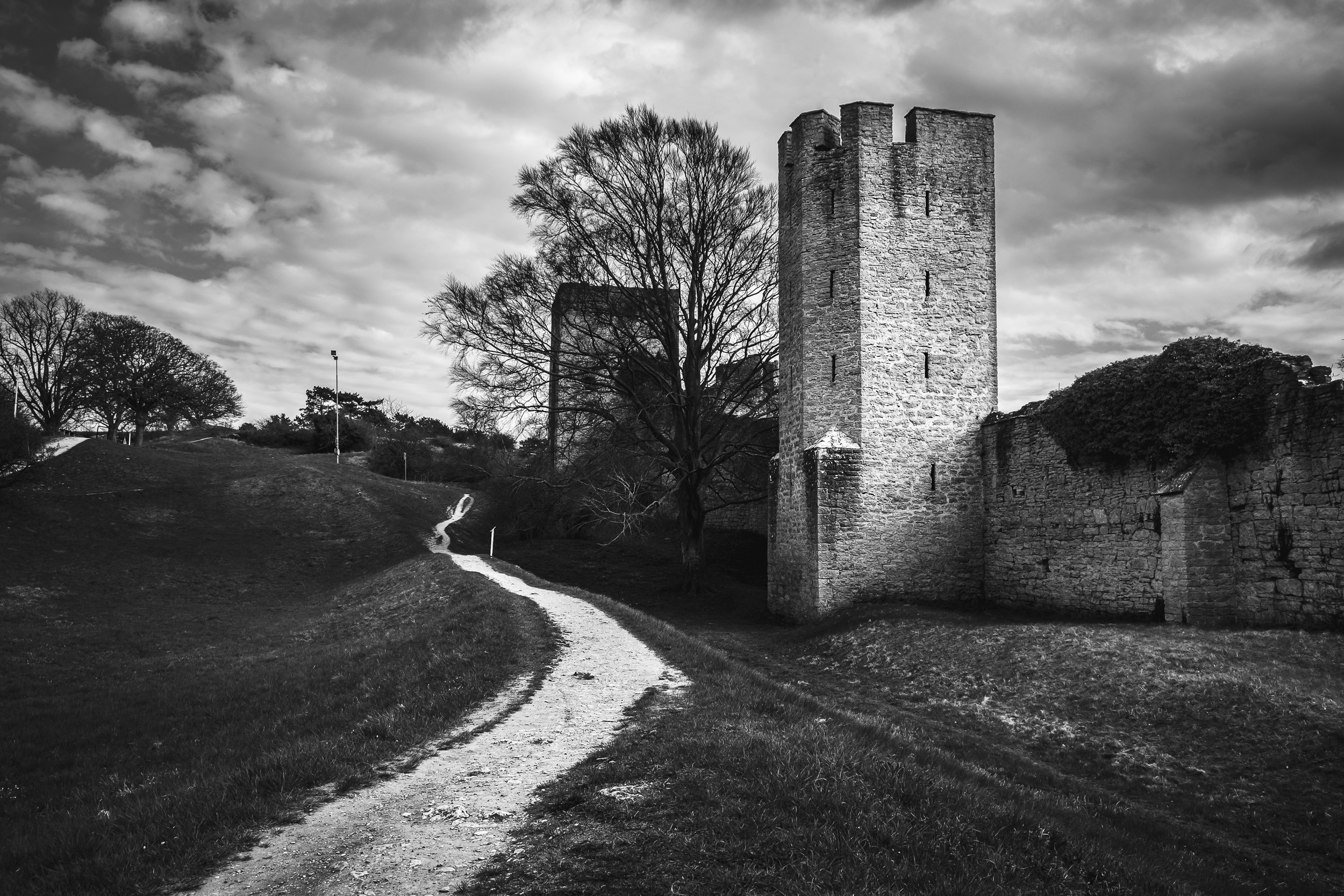 The northern ring wall around Visby