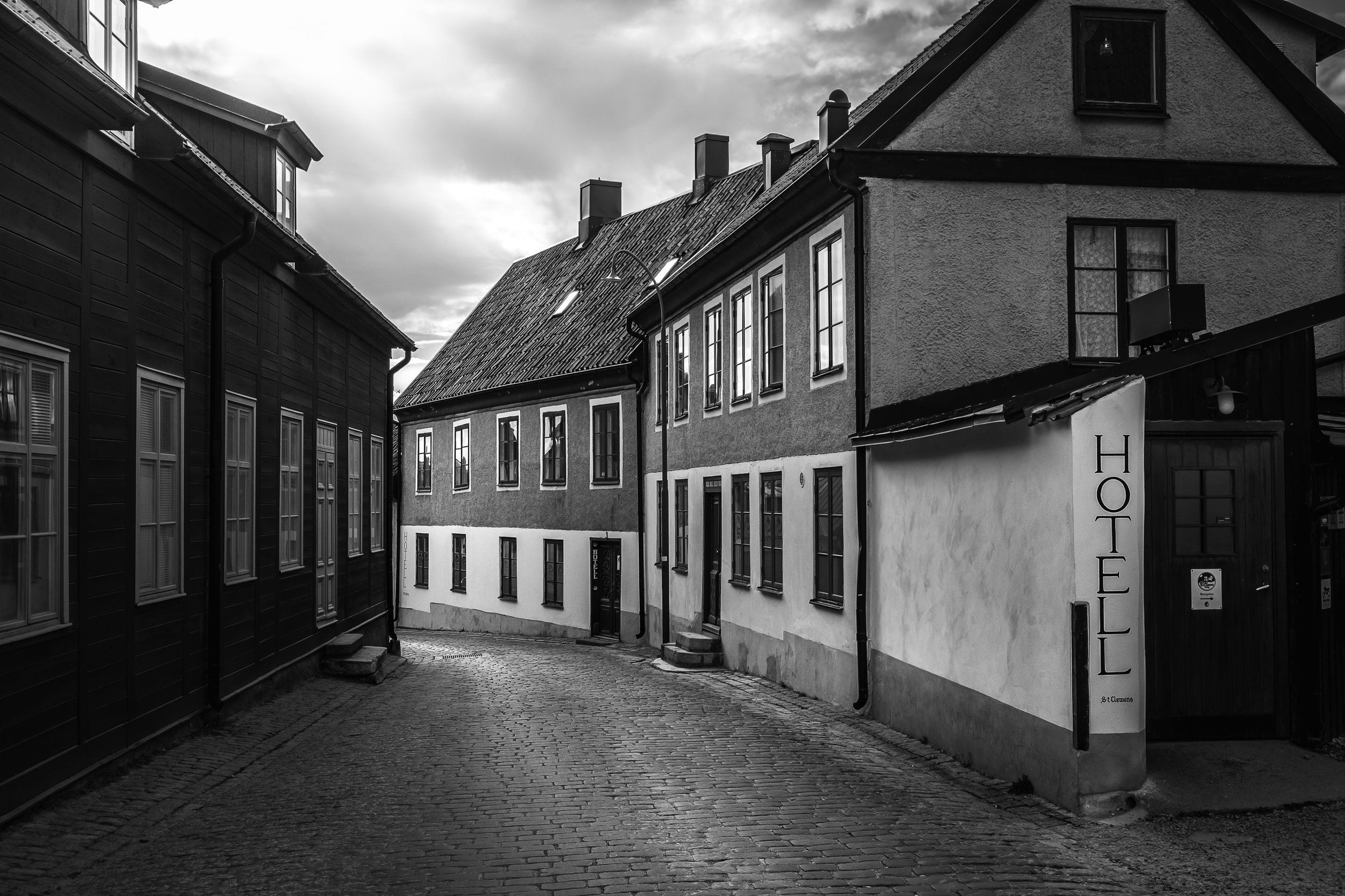 The old buildings at Visby old town
