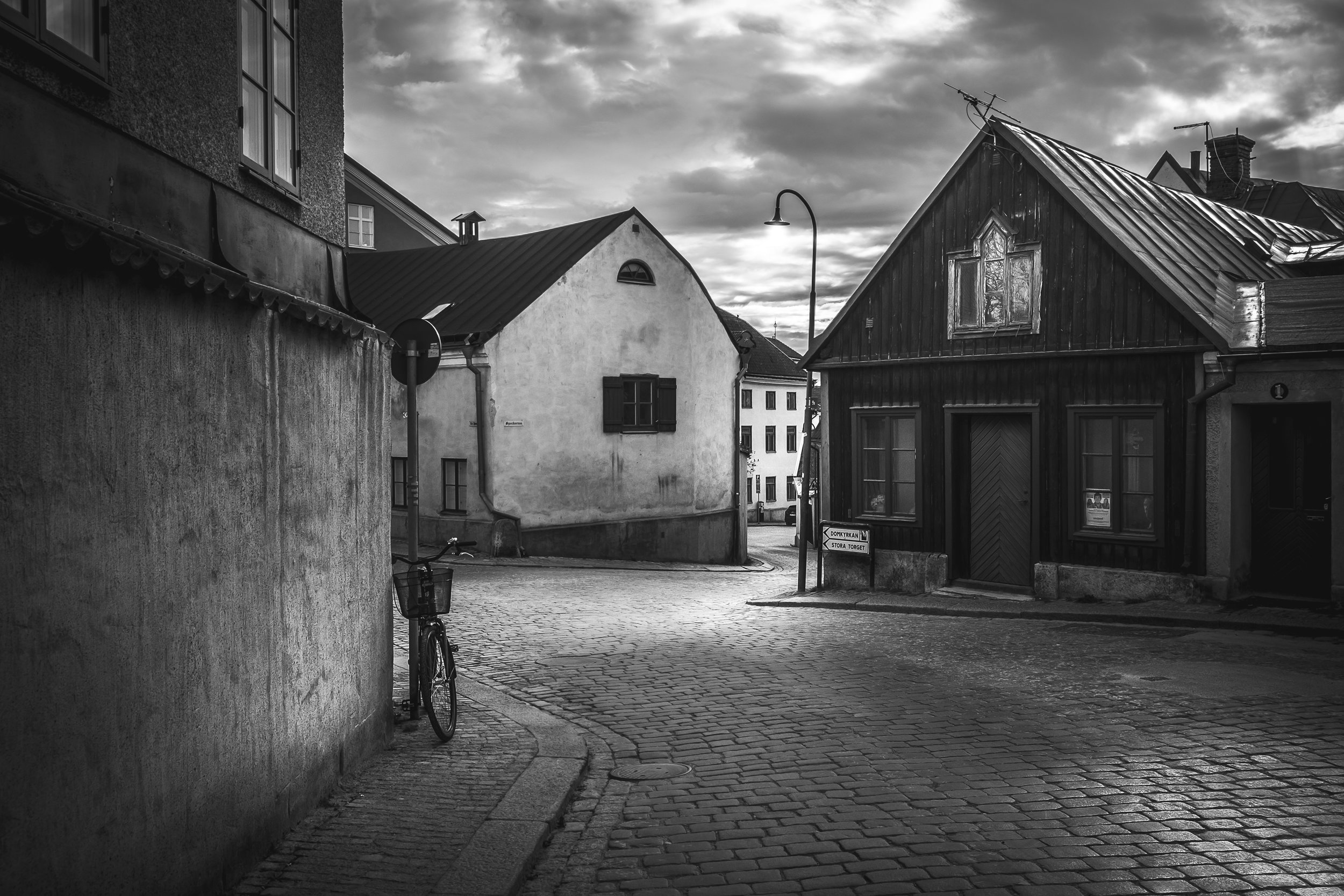 Cobblestone streets in old town Visby