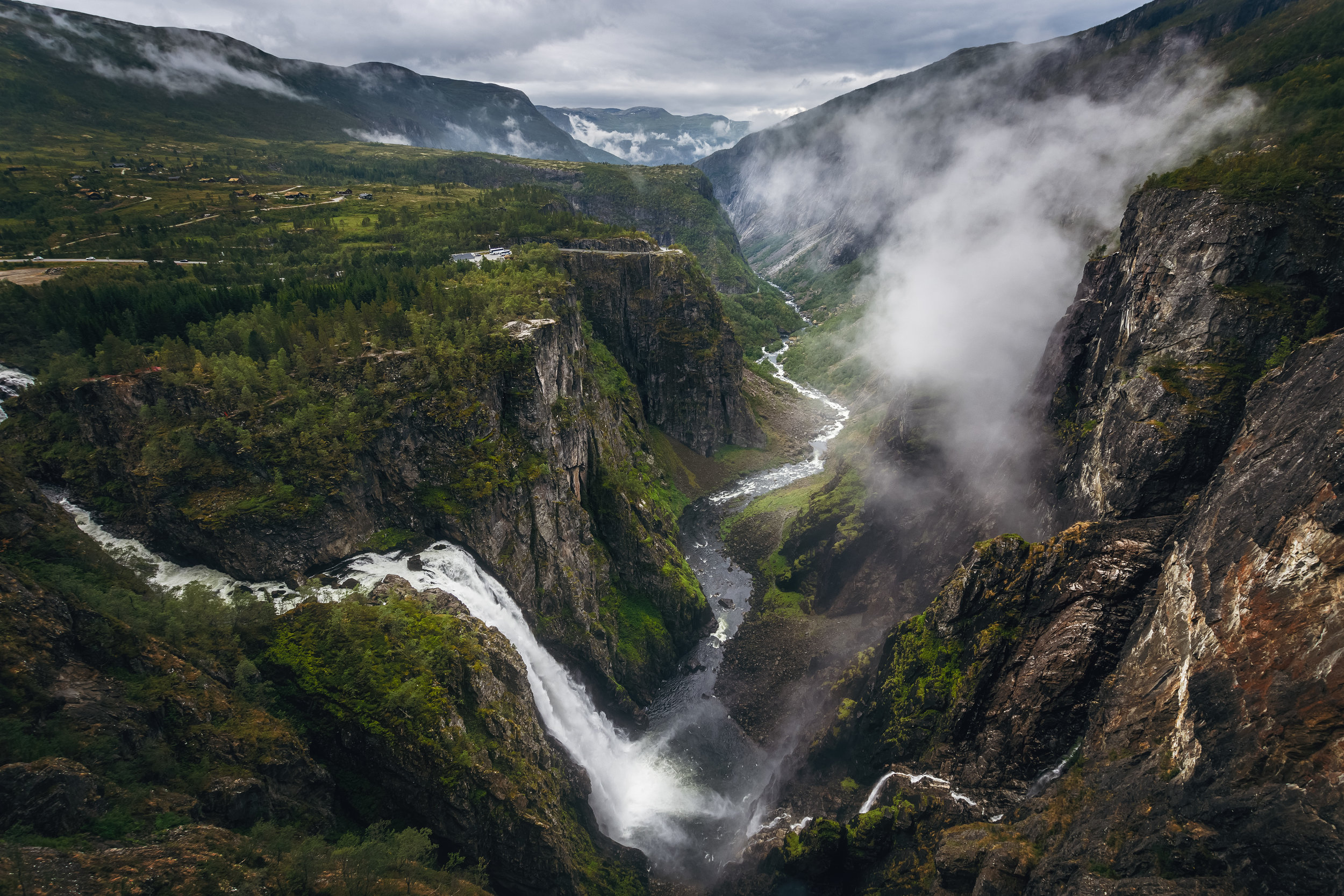 The view of the majestic Vöringsfossen
