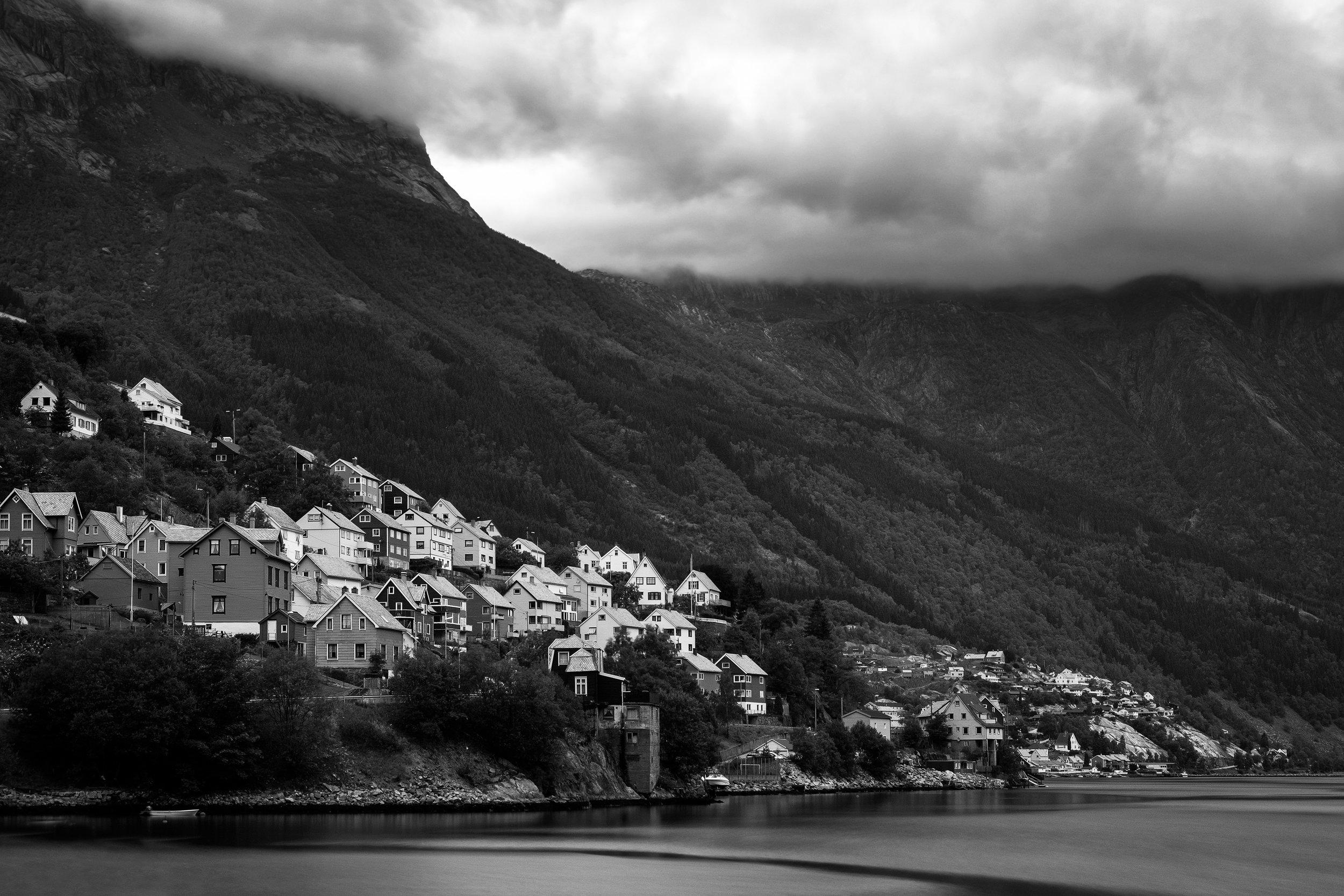 The village of Odda, Norway