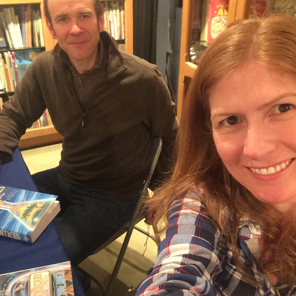MAILE MELOY and IAN SCHOENHERR, illustrator of  The Apothecary Trilogy