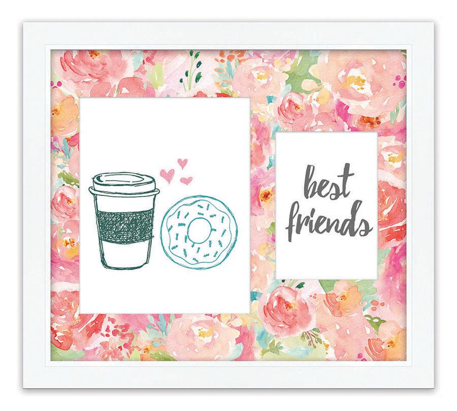 16x14_ID_4768_best_friends_coffee_donut_hd_WA416_1_25_inch_frame.jpg